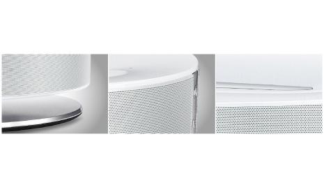 Metallic White Cylinder Design