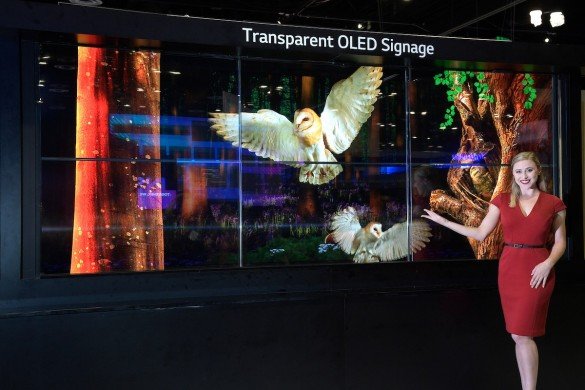 Transparent-OLED-signage