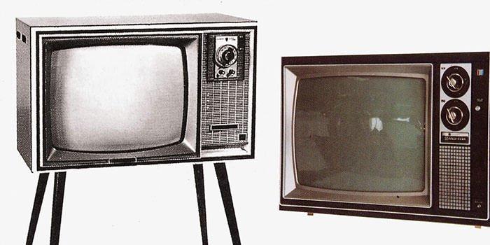 تلویزیون سیاه و سفید تولید گلداستار