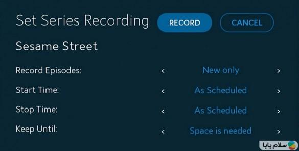 Recording-a-Series
