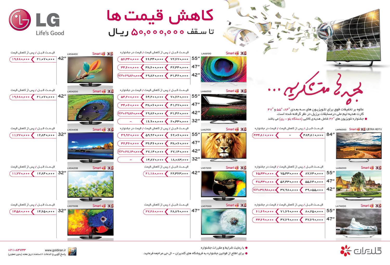 قیمت تلویزیون ال جی